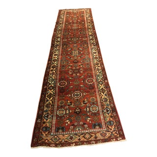 Antique Persian Heriz Runner - 2′9″ × 11′2″