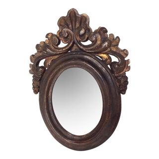Antique Oval Rococo Mirror