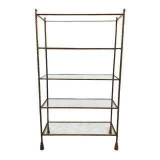 Vintage Hollywood Regency Style Gilded Etagere