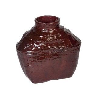 Small Crimson Lacquer Bamboo Wine Basket