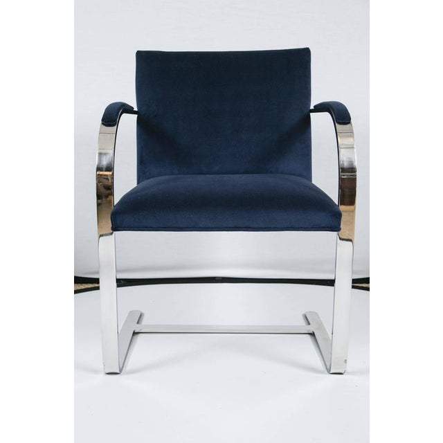Brno Flat Bar Chairs in Navy Velvet, Set of Six - Image 4 of 9