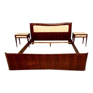 Italian Parchment & Walnut Queen Bedroom Set