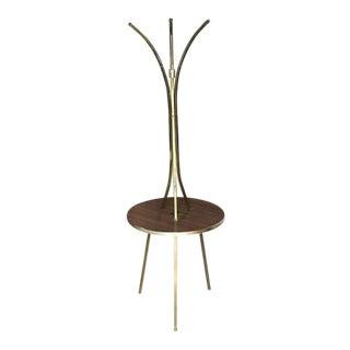Brass Tri Leg Tripod Base Round Side Table Floor Lamp