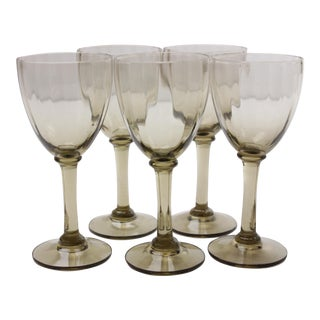 Mid-Century Port Wine Glasses - Set of 5