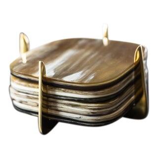 Ankole and Brass Coaster Set - Set of 4