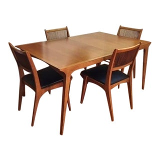 Mid Century Modern John Van Koert Drexel Profile Dining Table & Chairs