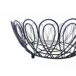 Image of Mid-Century Black Metal Wire Fruit Basket