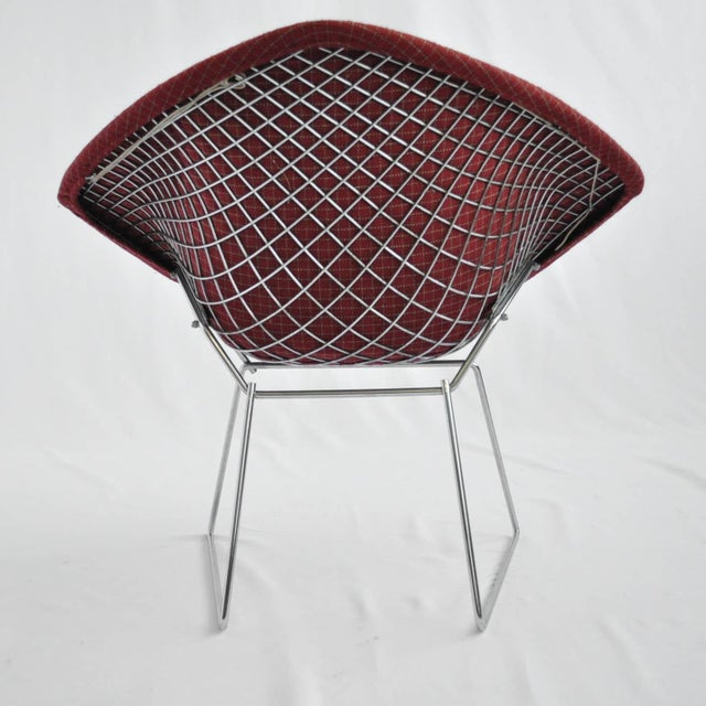 Harry Bertoia Diamond Dining Chair With Cover - Image 5 of 6