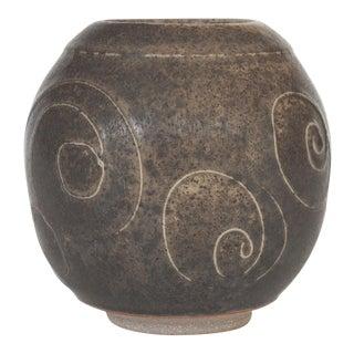 Gray Glazed Studio Pottery Vase