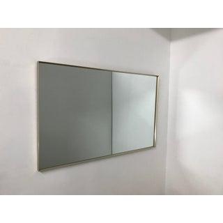 1960's Milo Baughman Brass Thin Edge Mirror