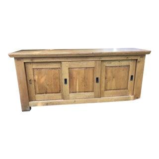 Norwegian Oak Console Cabinet