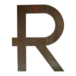 Vintage Bronze Letter R - Large