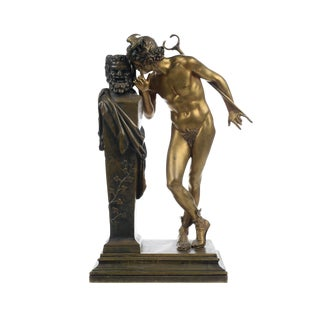 H. Moulin- a Secret From on High -Bronze Sculpture