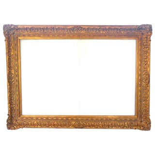 Very Large Antique Gold French Style Frame