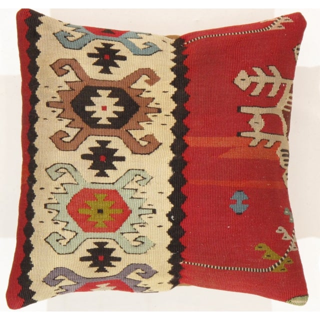 Pasargad Decorative Vintage Wool Kilim Pillow - Image 3 of 3
