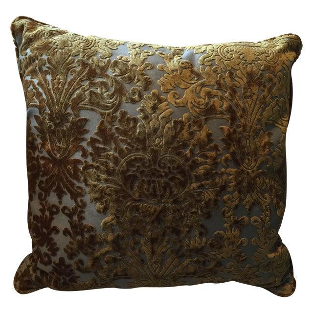 Barrow Velvet Damask Pillow - Image 1 of 7
