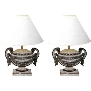 Urn Lamps - A Pair