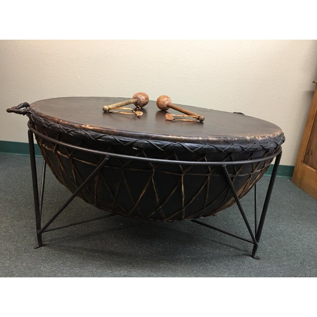 Black Coffee Table South Africa: African Drum Cocktail Table