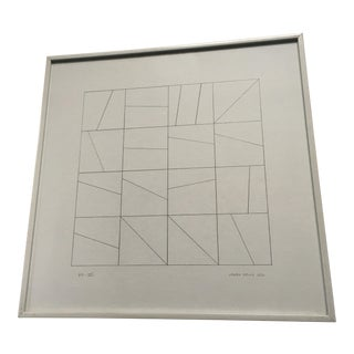 James Kelly 1972 Minimalist Abstract Drawing
