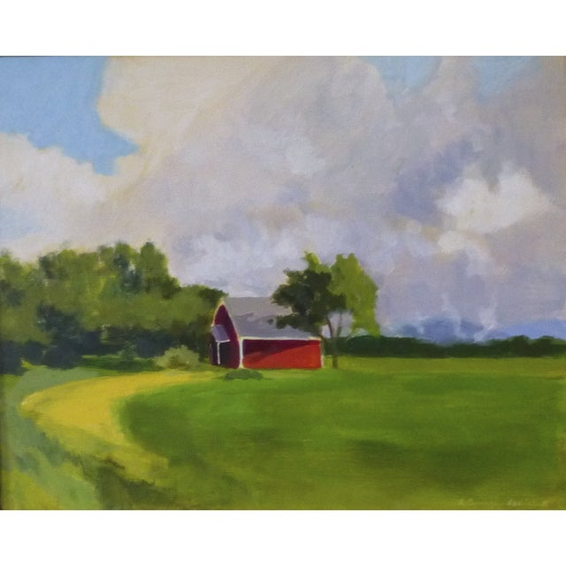 Original Painting - Red House in Vermont - Image 1 of 5