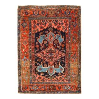 "Pasargad NY Antique Persian Bidjar Hand-Knotted Rug - 4'4"" x 5'11"""