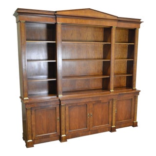 Baker Monumental Georgian Regency Style Library Bookcase