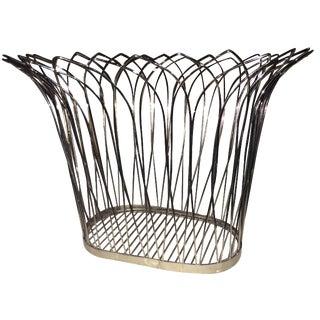 Chrome Mid-Century Basket