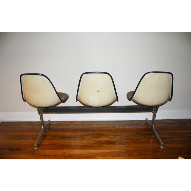 Vintage Eames Tandem Bench Chair - Image 9 of 11