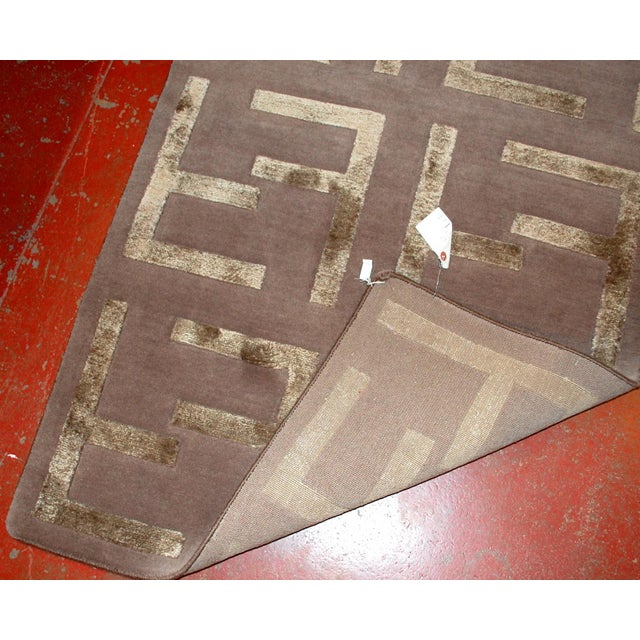 Indian Modern Silk Highlighted Rug- 3' x 5' - Image 9 of 9