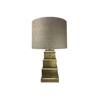 Wildwood Modernist Geometric Brass Table Lamp
