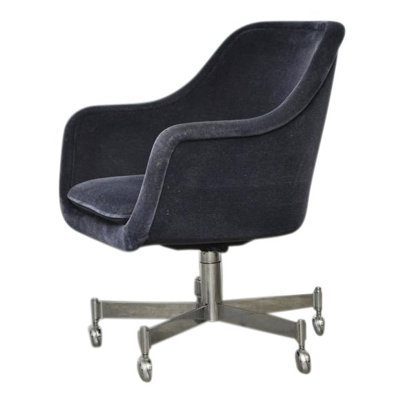 Ward Bennett Desk Chair in Mohair - Image 1 of 7