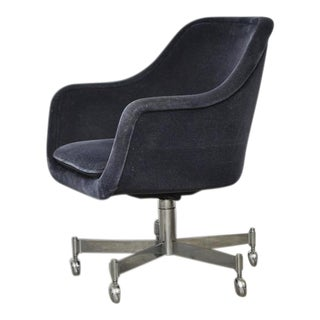 Ward Bennett Desk Chair in Mohair