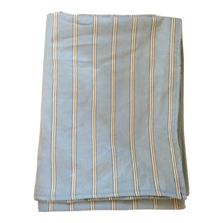 Gray Striped Tablecloth