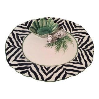 Italian White Leopard Chip & Dip Platter