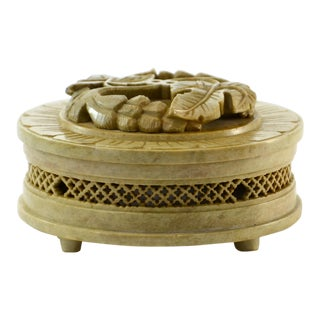 Artisan Carved Soapstone Box
