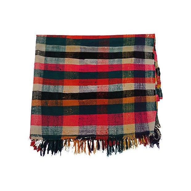 Moroccan Striped Blanket - Image 1 of 7