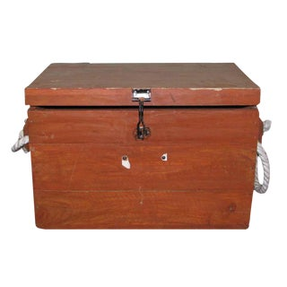Marine Chest With Rope Handles