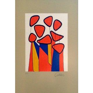"Alexander Calder ""Squash Blossoms"" Lithograph"