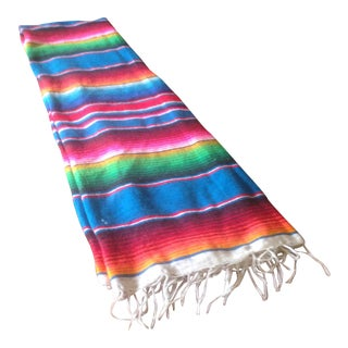 "Vintage Bright Striped Boho Blanket Throw - 78"" x 41"""