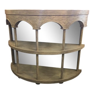 Redford House Two Shelf Demilune Console