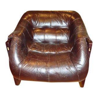 Percival Lafer Brown Chairs - A Pair