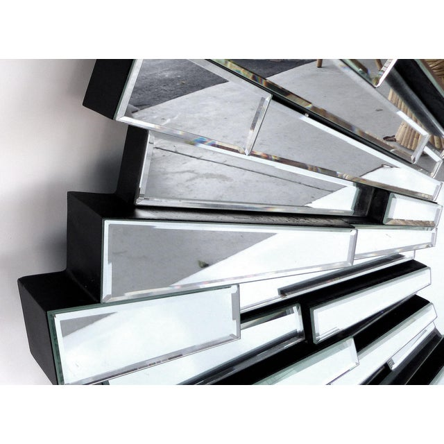 Sculptural Beveled Sunburst Wall Mirror - Image 6 of 7