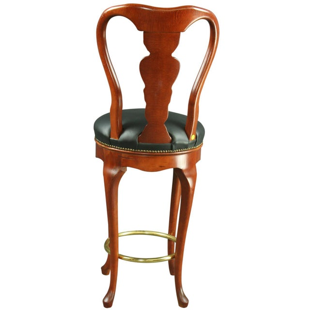 Queen Anne New Swivel Bar Stools - Pair - Image 5 of 6
