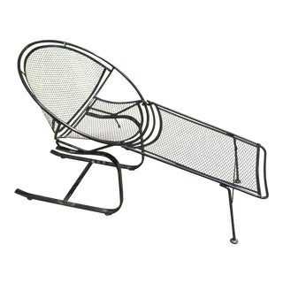 tempestini for salterini cantilevered hoop chair with footrest garden furniture new york