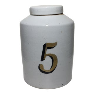 Vintage Style Ceramic Tea Jar