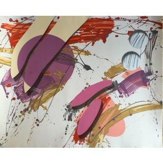 Mixed Media Abstract Print, 1986