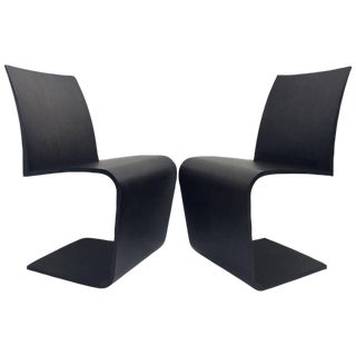 "Contemporary Bentwood ""Z"" Chairs by Roche Bobois - A Pair"