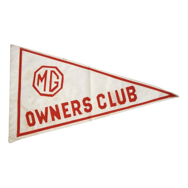 MG Owners Club Pennant Flag - Image 1 of 6