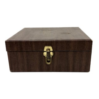 1960's Amfile Cancelled Check Case Woodgrain