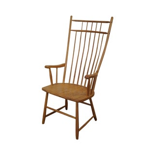 S. Bent Bros Colonial Windsor Style Oak Arm Chair